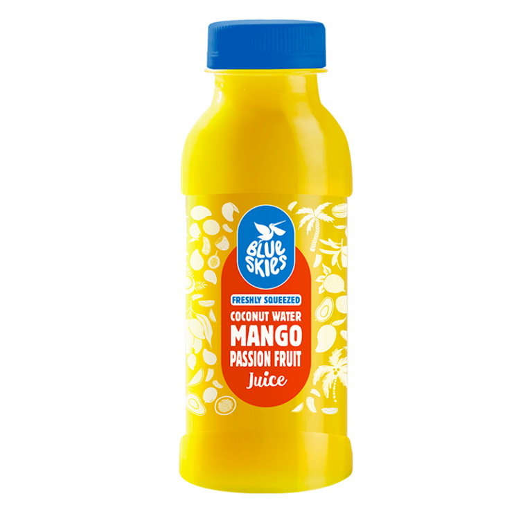Coconut Water, Mango & Passion Fruit Juice