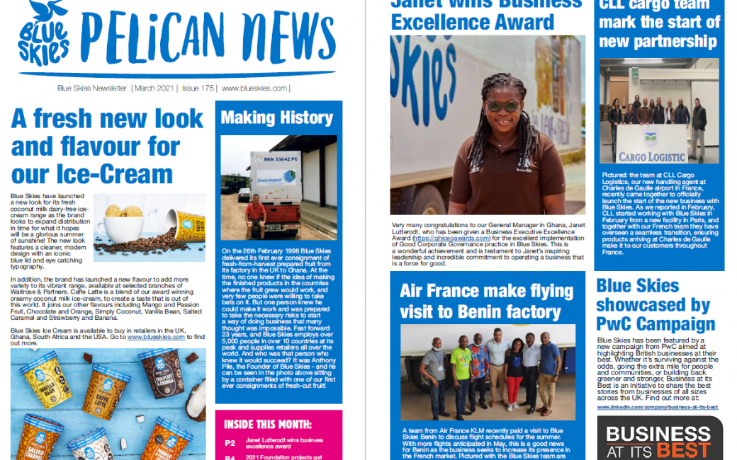 Download the March edition of Pelican News