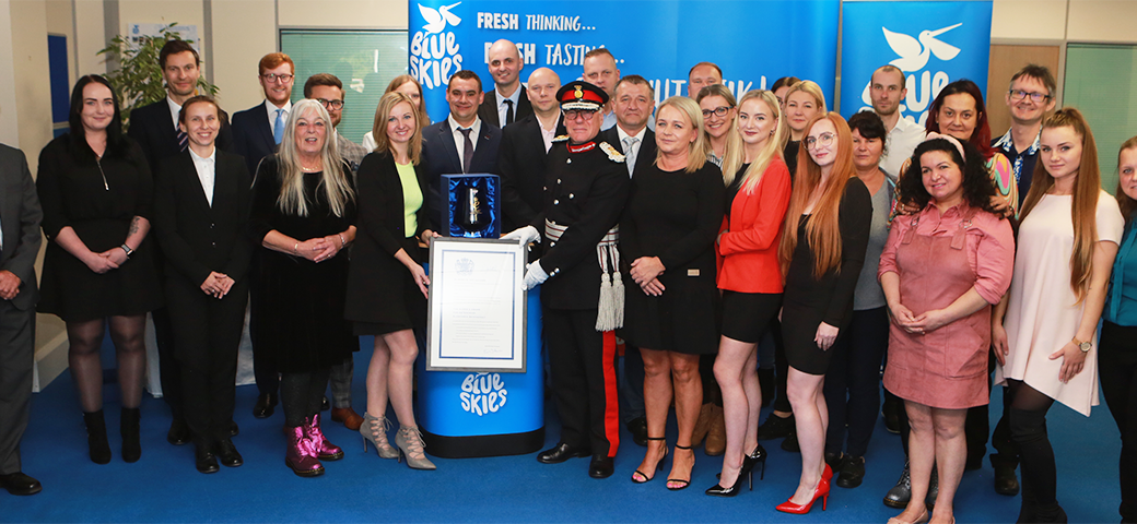 Blue Skies presented with fourth Queen's Award